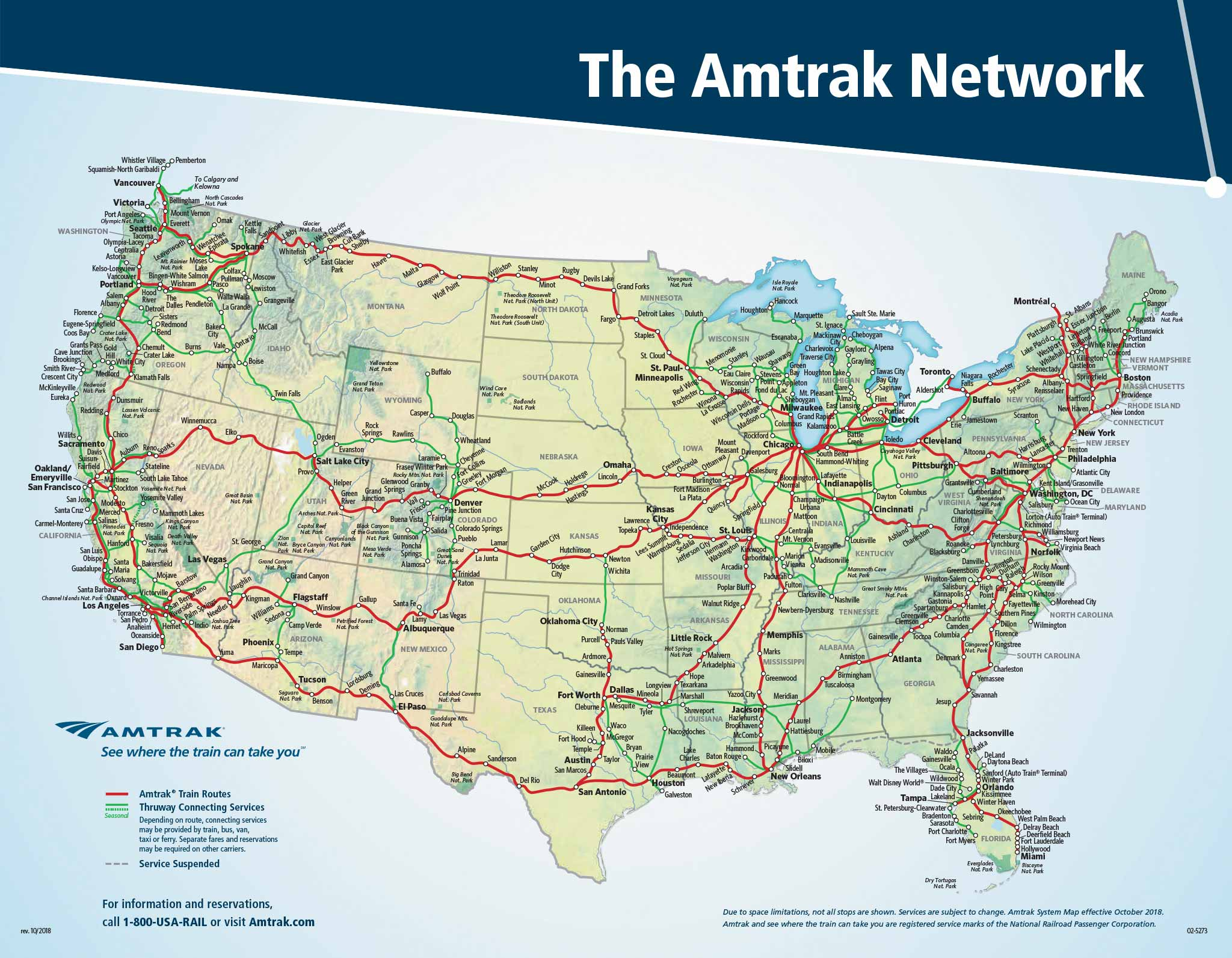 Amtrak System Map