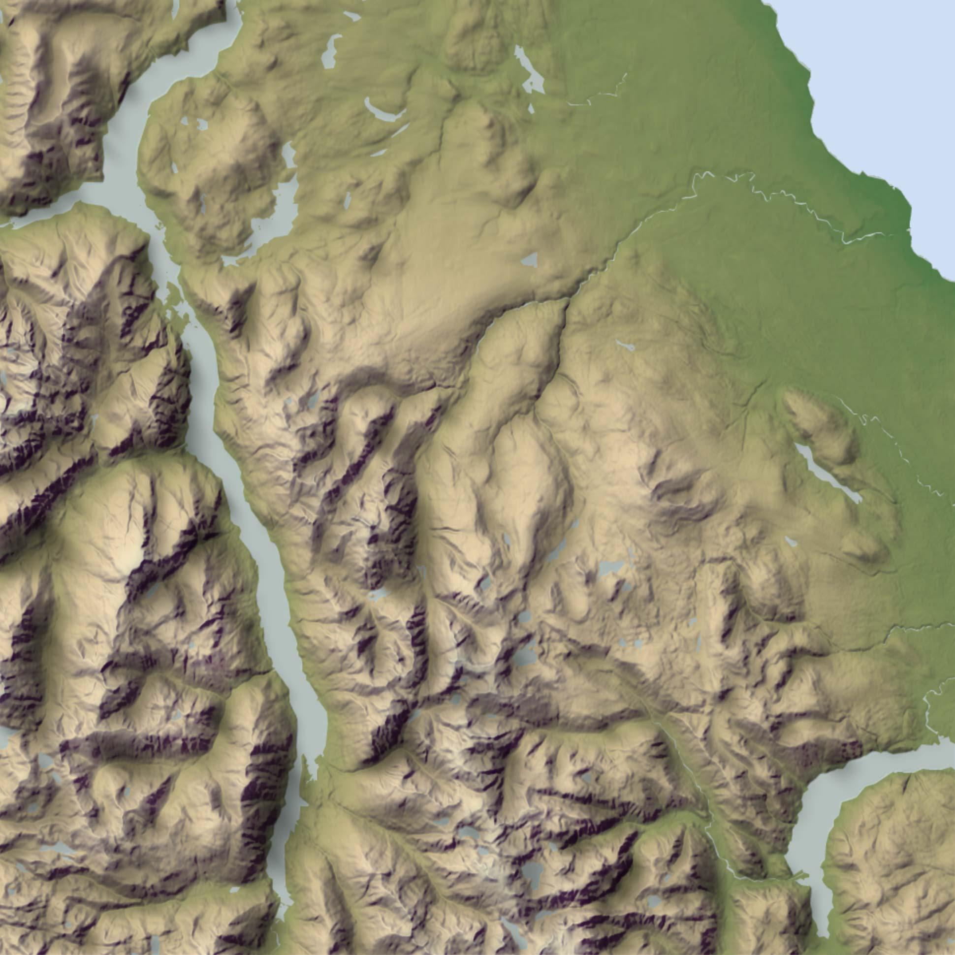 Strathcona Provincial Park's Buttle Lake Hillshade
